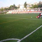 Construcción campo de fútbol