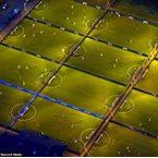 Construcción de varios campos de fútbol